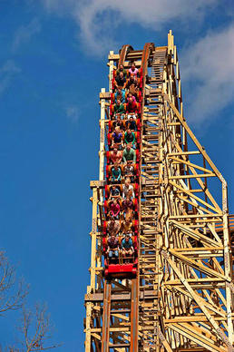 "The Outlaw Run wooden, looping coaster in Branson, Mo., is Silver Dollar City's new offering for summer 2013. The theme park bills the ride as ""the world's most daring wood coaster."""