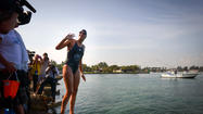 Swimmer Sets OUt for Keys