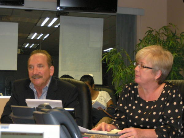 Chuck Lanza, Broward director of emergency management, and Margaret Stapleton, director of public communications.