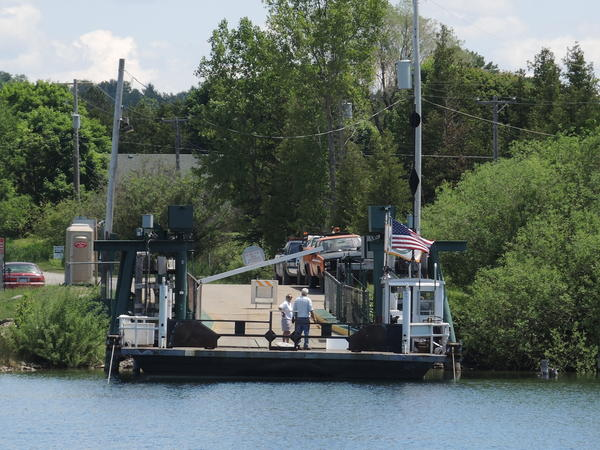 The Ironton Ferry was down for maintenance for just over an hour today, Wednesday.
