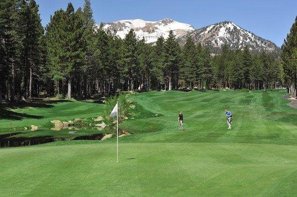 The Sierra Star Golf Course at Mammoth Mountain ski resort is about 8,000 feet above sea level.
