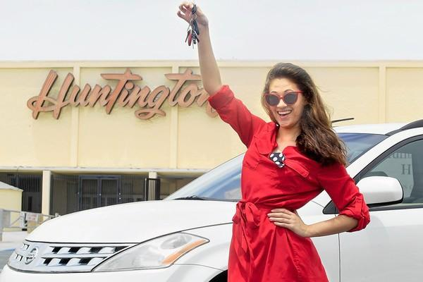 Huntington Beach High graduate Micayla Vermeeren, 18, at school on Tuesday. Vermeeren started a free ride program where sober drivers, in the Huntington Beach area, volunteer to drive drunk people home for free. This service is available through the Facebook page called HB On Call.