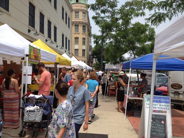 The North End Farmers Market in Middletown, shown here in 2012, is held every Friday through the end of October from 10 a.m. to 2 p.m. at the corner of Main and Liberty streets.