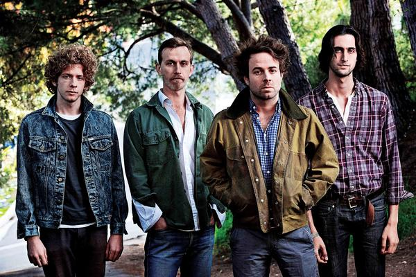 Taylor Goldsmith (second from right), member of the band Dawes, shares his favorite things. Dawes plays Milennium Park July 8.