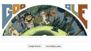 The Maurice Sendak Google Doodle you recently saw. Read on to see who designs these.