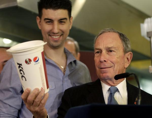 New York Mayor Michael Bloomberg, right.