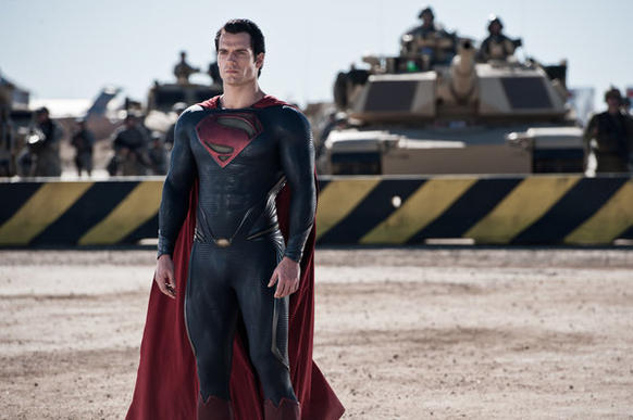 "Henry Cavill as Superman in ""Man of Steel."""