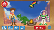 Youngsters can use a new Disney app to create their own Toy Story stories and even possibly win a trip to Disneyla