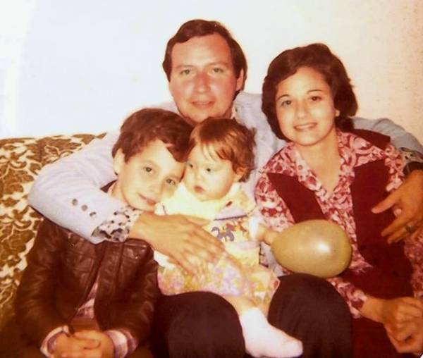 1978 Casillas family photo: Fernando R., 8; Fernando S., 33; Ofelia M., about a year old; and Ofelia R., 29. It was taken at their first home in the Village Green neighborhood of Miami.