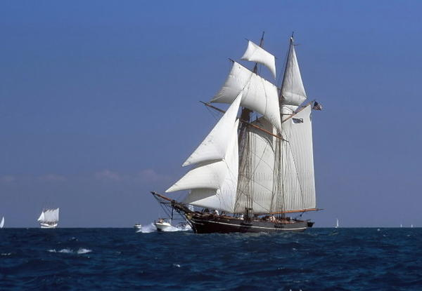 The tall ship Amistad is seen in full sail in May 2009. The replica of the original ship commandeered by its African captives in 1839 is now being leased by a nonprofit in Maine.