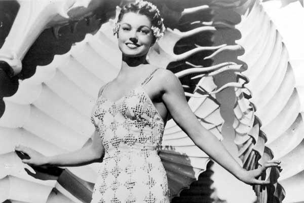 "Esther Williams stars in ""Bathing Beauty"" (1944) in a TCM tribute."