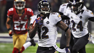 Jacoby Jones moves up depth chart as No. 2 Ravens receiver