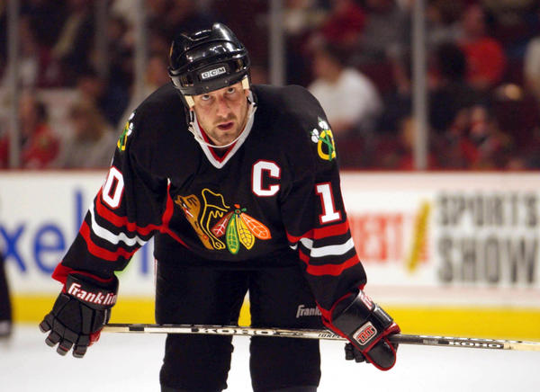 Tony Amonte during a 2002 game at the United Center.