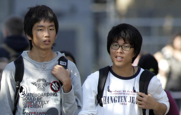 The Supreme Court will soon announce its decision in the Fisher vs. University of Texas case, which could invalidate the use of race-conscious policies in college admissions. Some Asian American groups have been vocal and visible in opposing what's broadly termed affirmative action. Above: University High students are seen in 2006.
