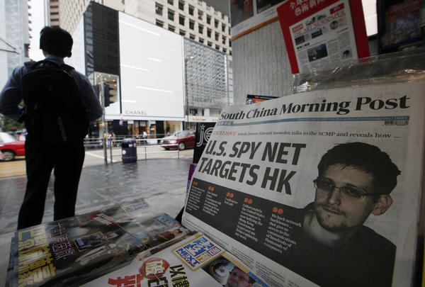 The South China Morning Post in Hong Kong features a photo of Edward Snowden, a former government employee who leaked top-secret documents about sweeping U.S. surveillance programs.