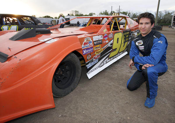 Shawn Schnabel, of Aberdeen, a super stock driver at Brown County Speedway. photo by john davis taken 6/7/2013