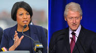 "Baltimore Mayor Stephanie Rawlings-Blake got a rare opportunity to throw a question at former President Bill Clinton, courtesy of Bloomberg Businessweek -- and she used it to ask how the nation can stimulate a ""more serious, bipartisan"" discussion on infrastructure investment."