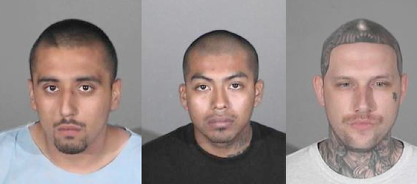 Suspects held in Santa Monica shooting, left to right: Christopher Chonan Osumi, Meliton Lorenzo Lopez and Noah Jason Farris.