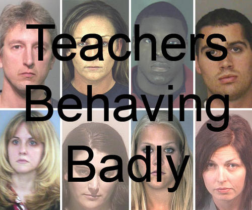 View images of teachers who have been arrested for inappropriate behavior with their students.