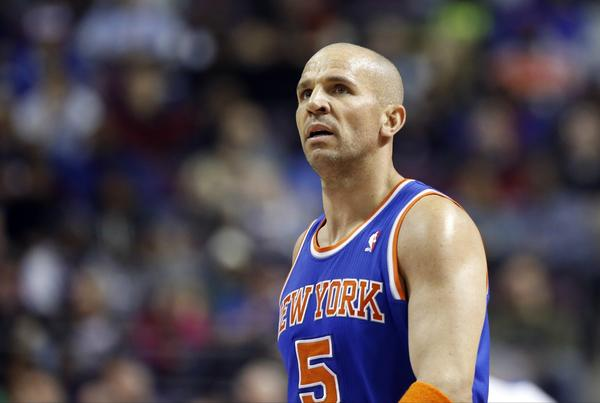 Jason Kidd during a New York Knicks-Detroit Pistons game.