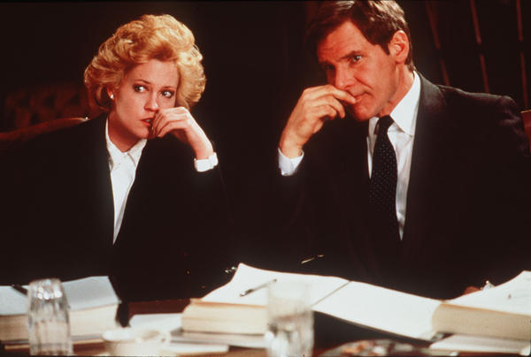 "Tess McGill (played by Melanie Griffith, with Harrison Ford) has ambitions to move up from her lowly secretary position in the 1988 film ""Working Girl."" More than 20 years later, many women are still fighting the same fight."