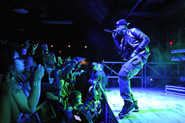 J. Cole performs at Baltimore Soundstage in October 2011.