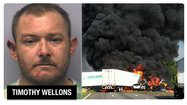 The Salem man charged with killing two tractor trailer drivers in Wednesday's wreck on Interstate 581 is in jail, and we've learned that he has a previous alcohol-related charge on his record.