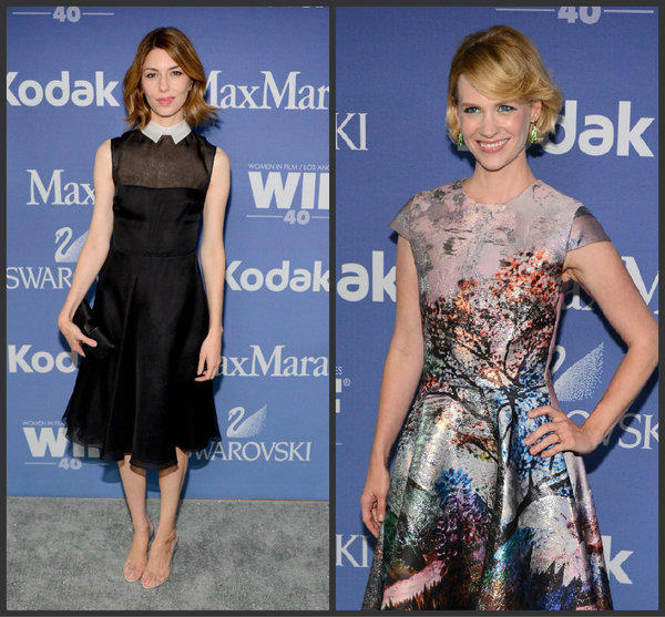 Director Sofia Coppola, left, and actress January Jones, right, attend Women In Film's 2013 Crystal   Lucy Awards at The Beverly Hilton Hotel on June 12, 2013 in Beverly Hills, California.