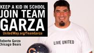 Chicago Bears Center Roberto Garza Teams Up with United Way to Draft Volunteers to Help Kids Graduate