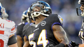 Ravens linebacker Adrian Hamilton leaves practice with injury