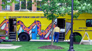Frankfort Library's Bookmobile at Cruise Night