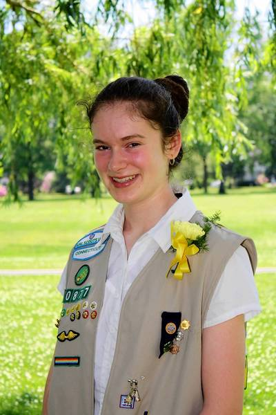 Lindsay Cadwallader of East Hartford has earned the Girl Scout Gold Award, the highest possible honor in Girl Scouts.