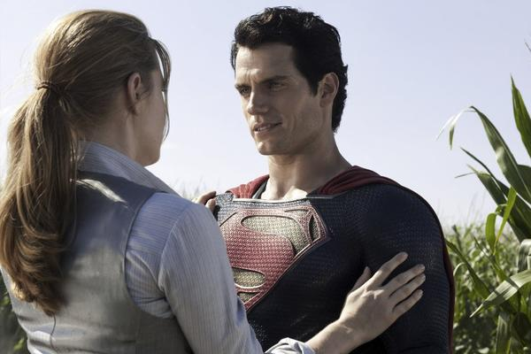"Amy Adams and Henry Cavill in ""Man of Steel."""