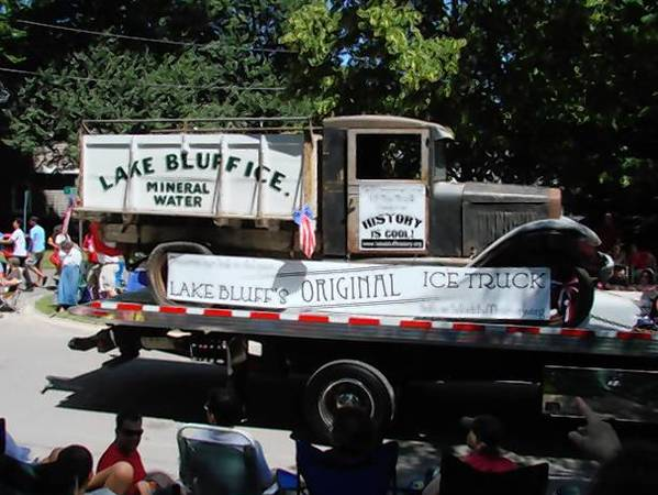 This photo shows the ice truck in 2010, shortly after it was brought to Lake Bluff.