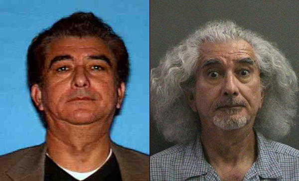 Robert Ruben Ornelas in a driver's license photo, left, and booking photo, right.
