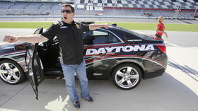 Tony Stewart, chauffeur for a day at the track