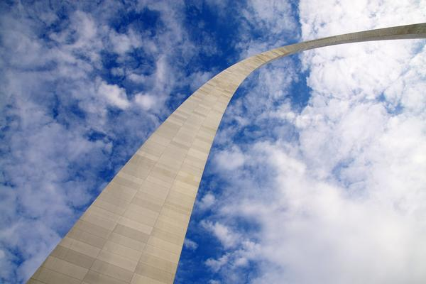 The Gateway Arch, in St. Louis, Missouri.