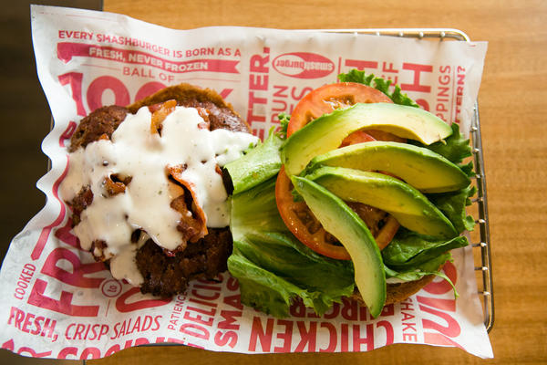 Avocado Club burger at Smashburger
