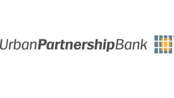 The logo of the Urban Partnership Bank, the successor to ShoreBank.
