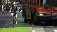 The L.A. City Council and the film industry are once again on a collision course over a green-colored bike lane downtown.