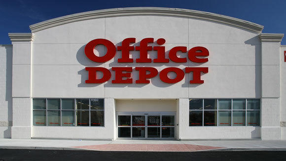 An Office Depot store.
