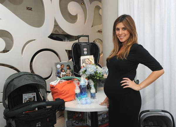 Jamie Lynn Sigler poses at her baby shower benefiting Baby Buggy at Sugar and Plumm in New York City.