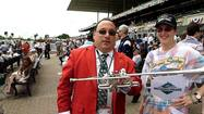 At the Belmont Stakes with Sam the Bugler