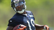 Brandon Marshall's hip problems have prevented him from participating much in offseason drill work for the Bears. Alshon Jeffery sat out minicamp with a hamstring injury. Devin Hester isn't even wearing the same-colored jersey as the receivers — he no longer is a part of the offense.