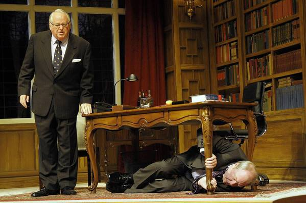 "Dakin Matthews, left, and  Michael McKean star in ""Yes, Prime Minister."""