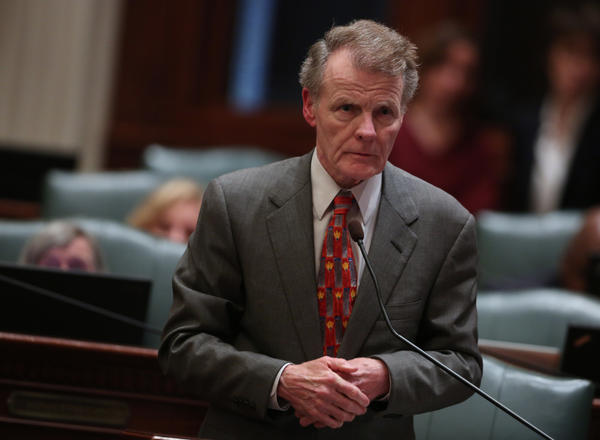 Speaker Michael Madigan on the House floor at the State Capitol in Springfield Friday, May 31, 2013.