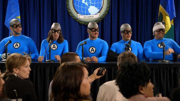 The Aquabats meet the press.