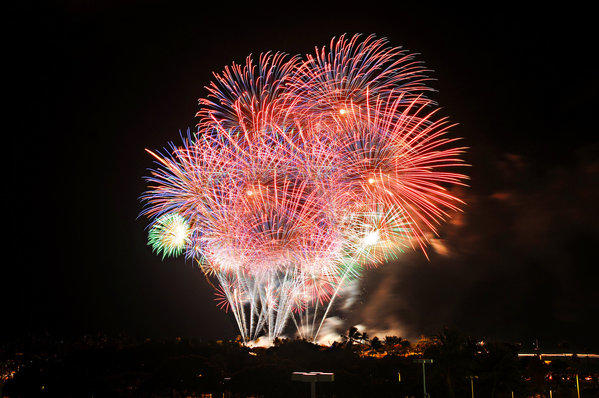 Fireworks are to light up Waikiki on the Fourth of July.