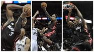 SAN ANTONIO – The rebound went to Chris Bosh, who passed to LeBron James, who then passed to Dwyane Wade, who was loping down the lane and dunking the last smidgeon of San Antonio hope, all of it, Thursday night.