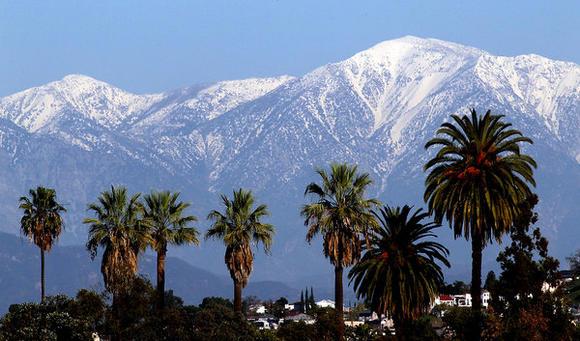 Snow on the San Gabriel Mountains